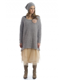 PULL COCOONING POLAIRE Gris