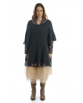 PULL COCOONING POUDREUSE Gris