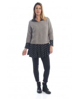 PULL COCOONING CEYLAN TAUPE