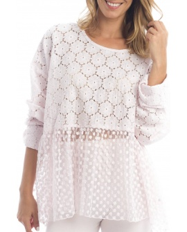 BLOUSE ANTIBES N°5 ROSE