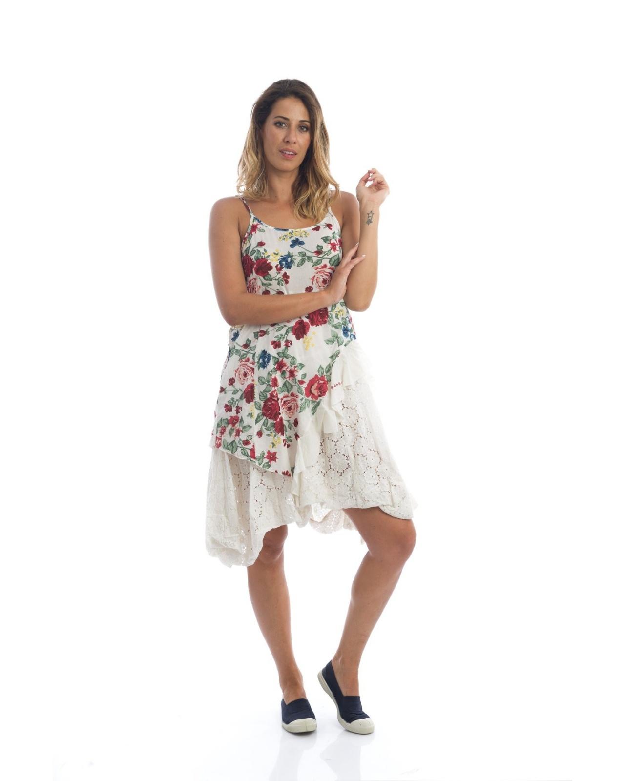 e3083c98dc3 Petite robe fleurie avec fines bretelles réglables