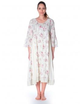 meilleur service 485a3 fb63f robe longue été romantique imprimé fleuri pour femme