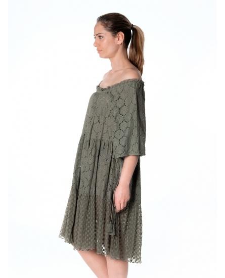 DRESS ANTIBES N°17 KAKI