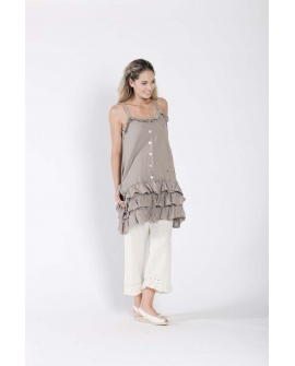 Robe courte Jean N°79 Taupe