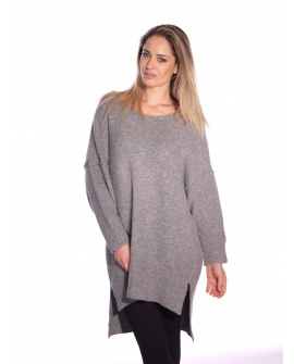Pull Long Girofle Gris