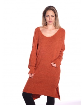 Pull Long Girofle Rouille