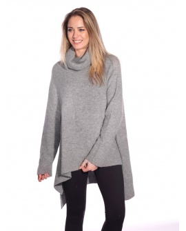 Pull Long Cannelle Gris