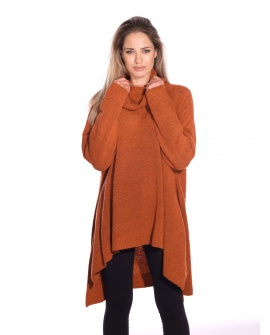 Pull Long Cannelle Rouille