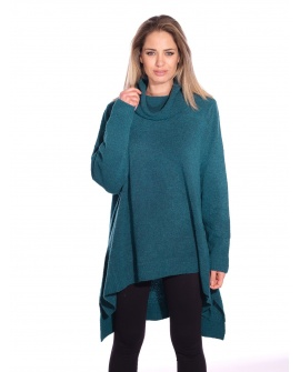 Pull Long Cannelle Bleu