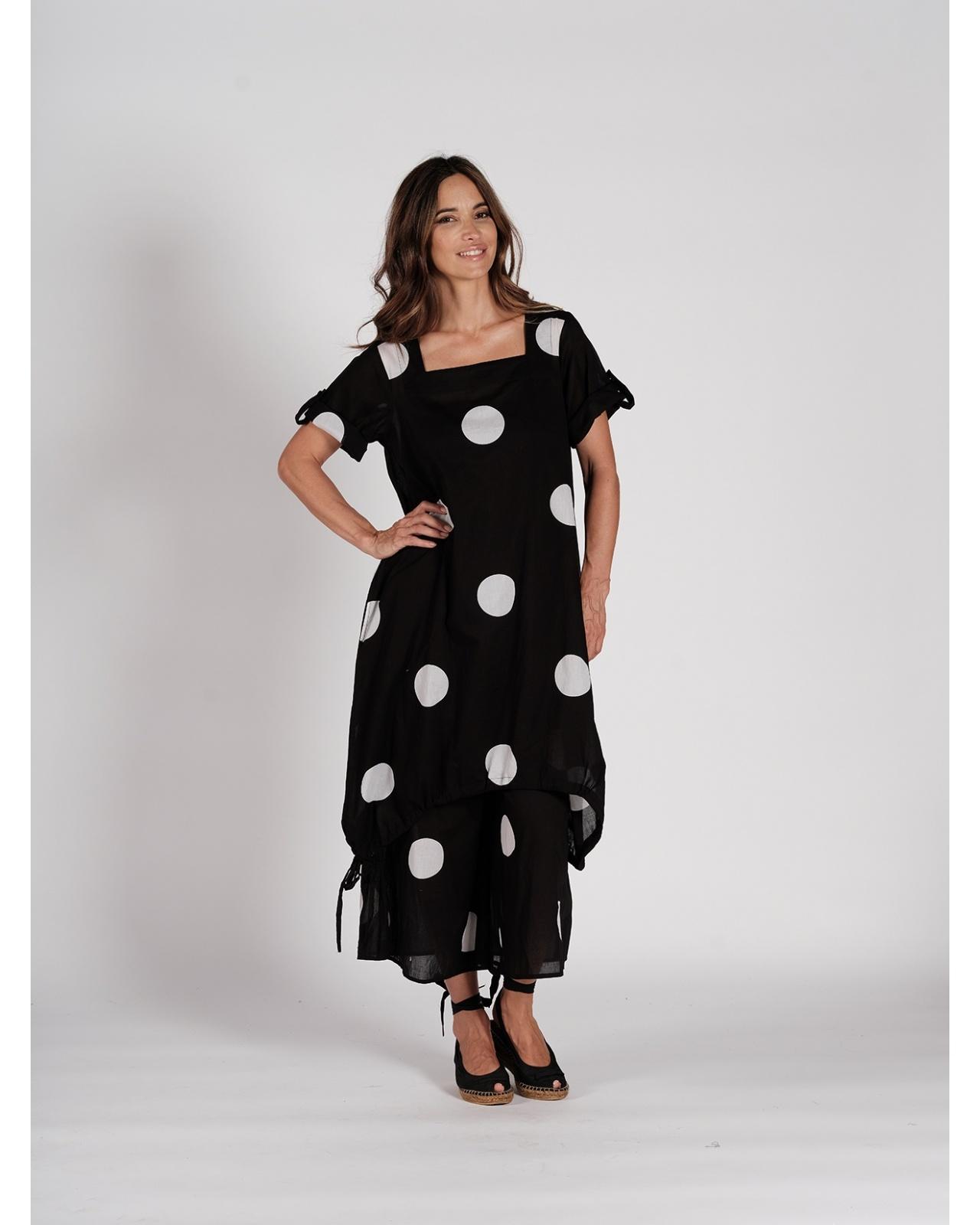 DRESS MONT VENTOUX N°7 BLACK/WHITE