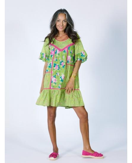 SHORT DRESS OLIVE N°102