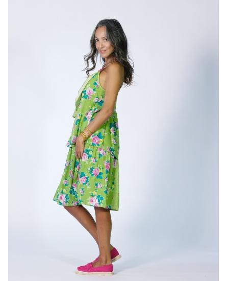 SHORT DRESS OLIVE N°104